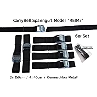 "Gepäck CarryBelt Spanngurt /""Reims25/"" 2er Set Fahrrad Outdoor Sicherung"