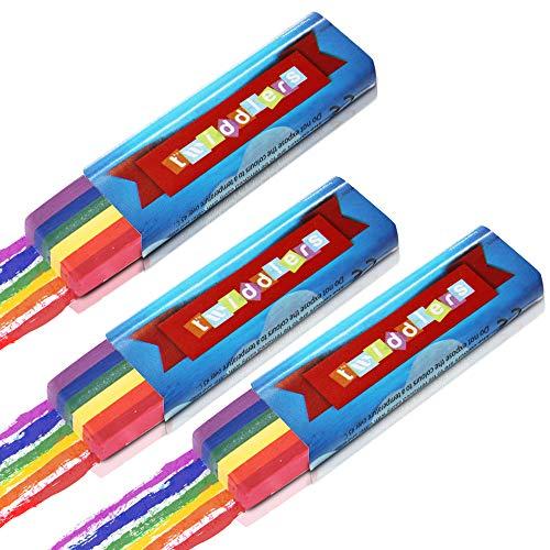 Paquete de 3 - Cepillo con forma de arco iris para pintura facial y corporal, ideal para eventos de fiestas, desfiles y festivales de orgullo gay y lésbico. Fácil de usar y lavar.