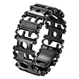 Multi Bracelet,Stainless Steel Wearable Tread Multifunctional 29 IN 1 Bracelet Screwdriver Tool for DFS (Black)