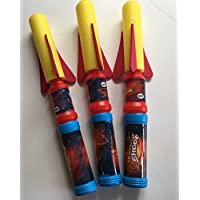 "3 x 12"" Foam Air Rocket with Launcher Pump - Rockets Girls Boys"
