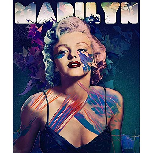 DIY Diamond Painting Kits for Kids Adults,5D Full Drill Diamond Painting Sexy Marilyn Monroe,Crystal Rhinestone Embroidery Pictures Arts Craft for Home Wall Decor,11.8×15.7in (Monroe Frames Picture Marilyn)