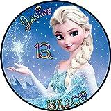 Tortenaufleger Fototorte Tortenbild Kindergeburtstag Frozen Elsa Eiskönigin F01 (Zuckerpapier) Rund 20 cm Ø ohne Foto