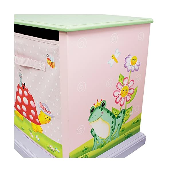 Fantasy Fields by Teamson Sunny 11 Fantasy Fields By Teamson Colourful organised storage cabinet for those keepsakes, toys, games and nik naks. Dimensions 121.92 x 37.47 x 43.82. 3 canvas bags included Sturdy and free standing. Suitable for Kids Bedroom and Playroom enchancing your little ones organisational skills Teach your kids colour and character recognition and enhance their imaginative minds.  Great for encouraging children's independence 6