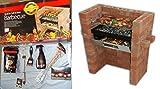 Der original Bar-Be-Quick Build In Grill & Bake + Starter Pack bestehend of-Feueranzünder, 3 Stück Küchenzubehör-Set, Grill-Bürste, Grillgabel, Hickory Smoking Chips + Grillreiniger!