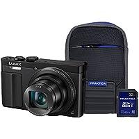 PANASONIC DMC-TZ70EB-K 32GBCASE DMC-TZ70 Black Camera Kit inc 32GB Class 10 SDHC Card & Case - (Cameras > Digital Cameras)