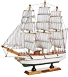 Happie Shopping Antique Lucky Decorative Wooden Sailing Ship Showpiece Office Home Decoration Business Gifts (Antique…