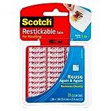Scotch Reusable Tabs-Clear 1' 18/Pkg