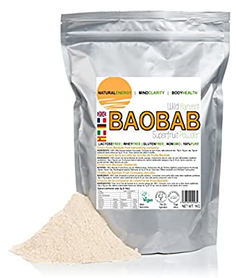 1kg (1,000 grams) Baobab fruit Powder - Direct from harvesting company by Mighty Baobab Limited