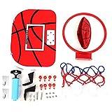 Juguete de Tablero de Básquetbol,   Juego de Plato de Baloncesto Ajustable Mini Juego de Aro de Suspensión Con Baloncesto, Suspensión, Bomba Para Niños Bebé(Gancho de plástico + gancho adhesivo)