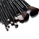 Glow schwarz 12 Make-up Pinselset + Tasche