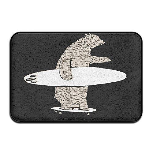 Bär Go Surfing Personalisierte Fußmatten