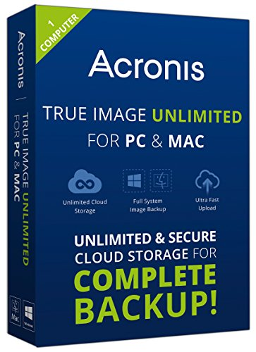 Acronis True Image Unlimited for PC and Mac - 1 Computer