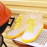 QIANDA Estudiante Botas De Lluvia Chicas Mujer Zapatos De PVC Impermeable Playa Transparente, 5 Colores (Color : Amarillo, Tamaño : 4UK/6US/36EU)