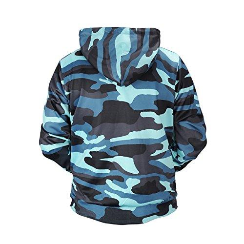 Sweatshirts Unisexe Noël 3D Imprime Street Style Mens Womens Pocket Respirant Pull à Capuche à Motifs De Grande Taille OneColor