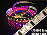 LPD8806 Streifen Strip LED RGB Stripe IP20 60 LEDs/m - 30 ICs/m - Meterware