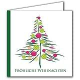 Weihnachtskarten-Set 20 Stück für Familie, Freunde, Firmen, geschäftlich! Mit außergewöhnlichen Design! + Gratis hochwertige Umschläge 20 Klappkarten Business Stückzahl kombinierbar: 50 St 2 x 20 + 10 oder 100 Stk 5 x 20 St