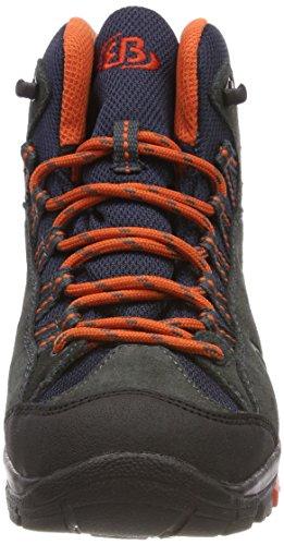 Brütting Mount Bona High, Chaussures de Randonnée Hautes Mixte Adulte Gris (Anthrazit/orange)