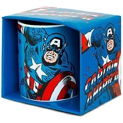 Logoshirt Marvel Comics–Captain America Taza de café–présenté dans un Coffret