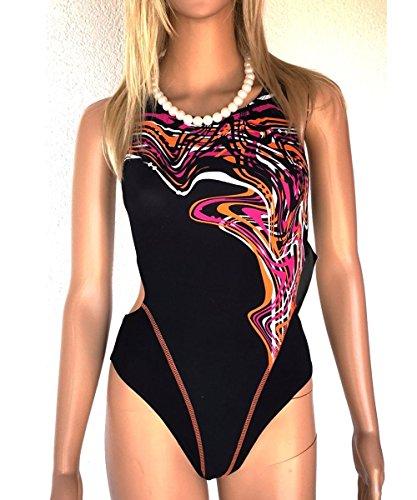 30 Damen Schwimmanzug Badeanzug Schwarz Bunt Gr 40 Aquafeel 2001 00 Nr Fashy