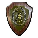 Wappenschild / Wandschild / Wappen -GebJgBtl 231 Bundeswehr Gebirgsjäger Btl 231 Gebirgsjägerbataillon Reichenhaller Jäger Wappen Abzeichen #7742