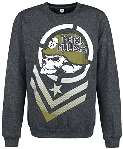 Metal Mulisha Hoodie / Fleece BLAND CREW FLEECE Schwarz Charcoal Heather