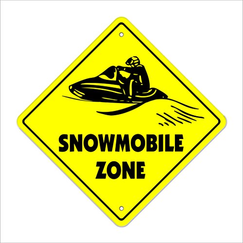 SignMission Schneemobil Crossing Sign Zone Xing |-| 43,2cm Hoch New Snow Mobile Arctic schneeschlittenfahrens Snowmobiler Kalt
