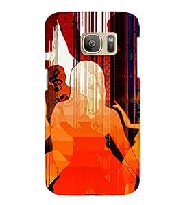 PrintVisa Dance Party Music Art 3D Hard Polycarbonate Designer Back Case Cover for Samsung Galaxy S7