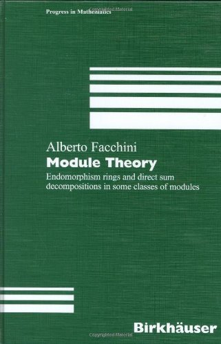 Module Theory: Endomorphism rings and direct sum decompositions in some classes of modules (Progress in Mathematics) by Alberto Facchini (1998-06-16)