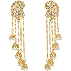 The Luxor Gold Pearl Jhumki earrings for Women