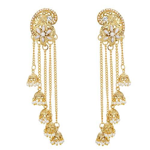 The Luxor Designer Pearl Long Chain Earrings for Women