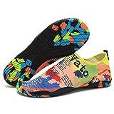 Unisex Water Shoes OverDose Quick Dry Sports Aqua Shoes Swim Shoes For Swim,Walking,Yoga,Lake,Beach,Garden,Park,Driving,Boating,Snorkeling Colorful Map (41 EU)