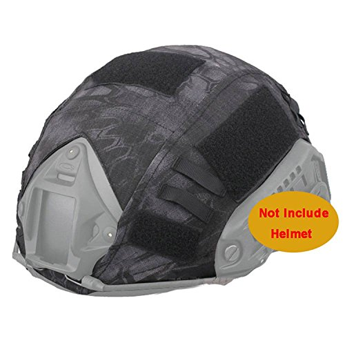 Fast-helm Helm-cover Für (worldshopping4u Military Jagd Shooting Gear ops-core Combat Fast PJ Helm Bj Base Jump Camouflage Helm Cover für Army Tactical Airsoft Paintball, ohne Helm, 3 Farben, Highlander, Mandrake, Typhon Kryptek Typhon)