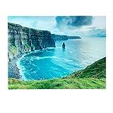 Invicta Interior Eindrucksvoller Design Kunstdruck Ireland 60x80cm Wandbild aus Glas Irland