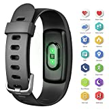 AUSUN Fitness Tracker 107HR Plus Waterproof Heart Rate Wristband With Multi Sports Mode Swimming Smart Watch