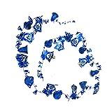 CAOLATOR Set Weihnachten Dekoration Weihnachtsbaum Deko Glocke Band Weihnachtsdeko Schleife Weihnachtsbaumschmuck Anhänger 180cm - Blau