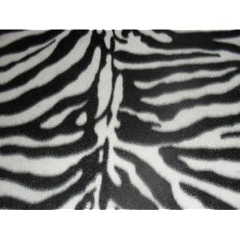Fabric Material Soft And Washable 60 Inch Width Zebra Print Polar Fleece