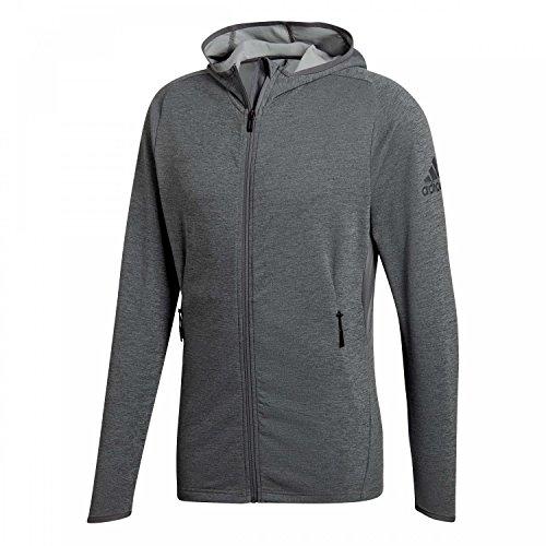 adidas Herren Fleece Climacool Kapuzen-Sweatshirt, Chalk Solid Grey/Grey Five, M Preisvergleich