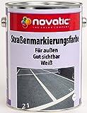 novatic Straßenmarkierungsfarbe, 2,5ltr - reinweiß