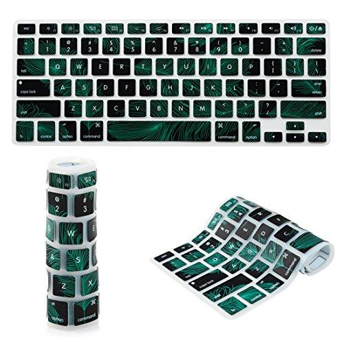 Badalink Copritastiera Silicone Coperchio della Tastiera USA per MacBook Pro 13