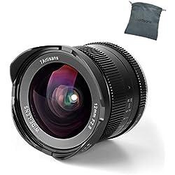 7artisans Objectif 12mm f/2.8 à Grand Angle Focale Manuelle APS-C Anti-Distorsion pour Appareil Photo Monture E Sony NEX-6R NEX-7 A3000 A5000 A6000 A6300 A6500
