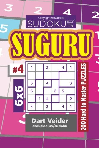 Price comparison product image Sudoku Suguru - 200 Hard to Master Puzzles 6x6 (Volume 4)