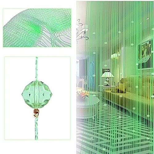 Perlen Quaste String Vorhang Tür Fenster Home Decor Teiler 1 x 2M grün (Tür-vorhänge Perlen)