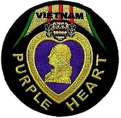 VIETNAM PURPLE HEART VET Embroidered Biker POW Motorcycle MC Vest Patch PAT-1963 by heygidday (Purple Heart Patch)