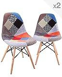 KAYELLES Chaise Patchwork Nadir - Lot de 2 chaises DSW (Patchwork)