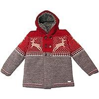 Pueblos mezcla lana con capucha y decoro con renos.