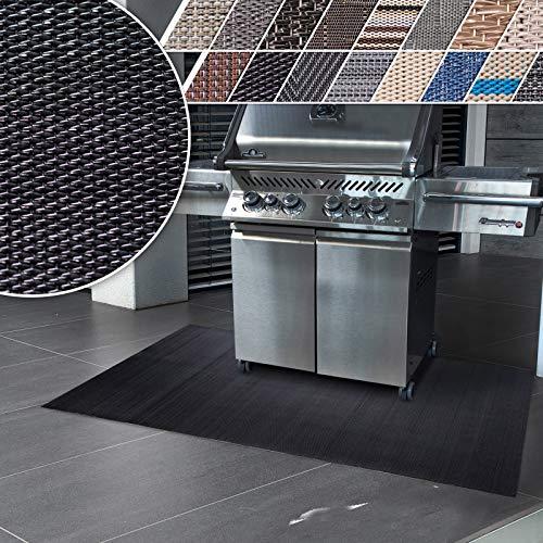 casa pura Grillmatte | Unterlage für Grill zum Schutz von Balkon und Terrasse | robuster + abwaschbarer Bodenschutz in 3 Größen - Padua 180x180 cm