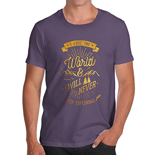 TWISTED ENVY  Herren T-Shirt Pflaume