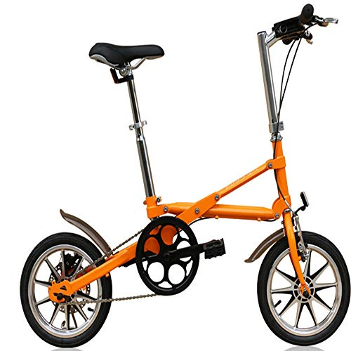 ZHAORLL Portable 14 Inch One Second Folding Bicycle Rear Wheel Disc Brake D76*H94CM Variety Of Colors