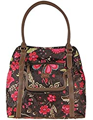 Oilily Paisley Flower Shopper Brown