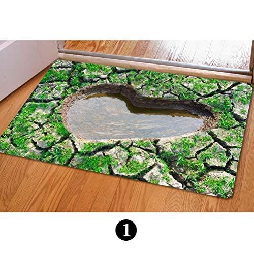 ferfgrg Cute 3D False Trap Print Front Floor Mats Doormats Indoor Outdoor Bedroom Kitchen Carpet